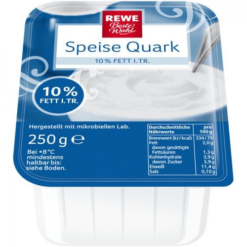 Speisequark, 10 % Fett i. Tr., Dezember 2017