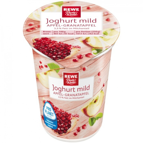 Joghurt mild Apfel-Granatapfel, Dezember 2017
