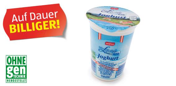 Naturjoghurt, 0,1 % Fett, M�rz 2012
