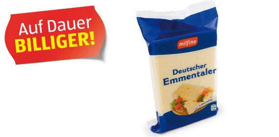 Deutscher Emmentaler im Stück, 400 g, M�rz 2012