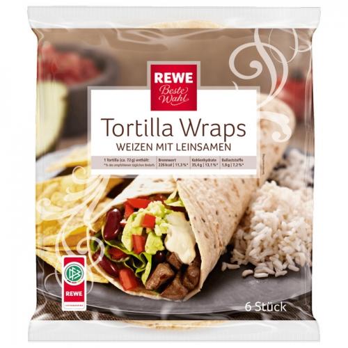 Tortilla Wraps Weizen mit Leinsamen , September 2017