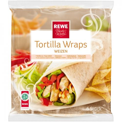 Tortilla Wraps Weizen, September 2017