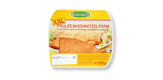 Poulet in Schnitzelform, April 2012