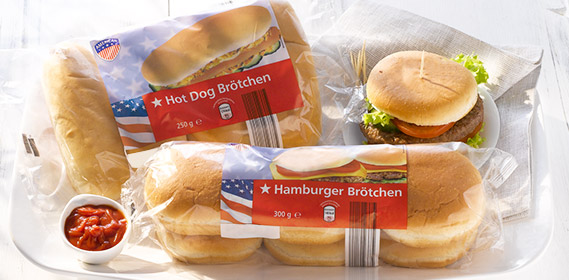 Hamburger- oder Hot Dog Brötchen, April 2012