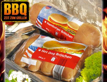 Hamburger- oder Hot Dog Brötchen, Juni 2013