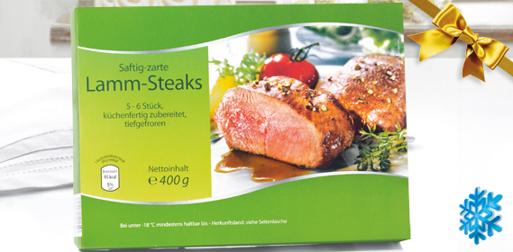 Lamm-Steaks, M�rz 2013