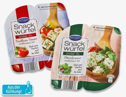 Snack-Würfel, 2x 80 g, Mai 2014