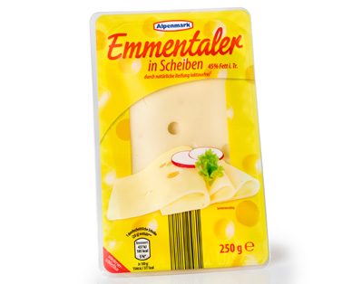 Emmentaler, in Scheiben, April 2015