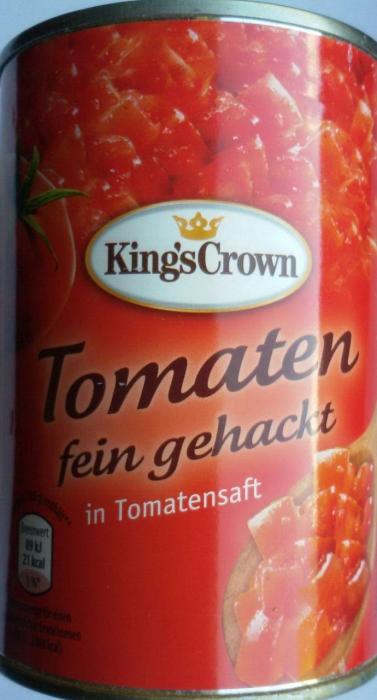 Tomaten fein gehackt, Juni 2017