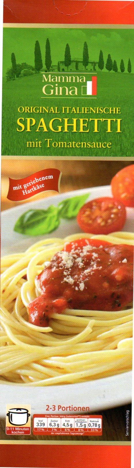 Spaghetti-Gericht Tomate, November 2012