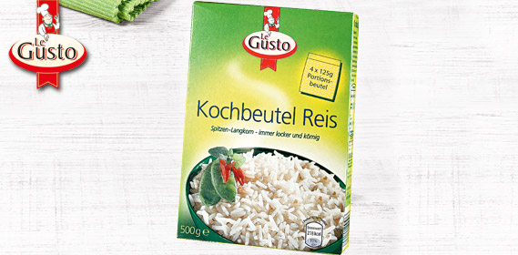 Kochbeutel Reis, 4x 125 g, September 2011