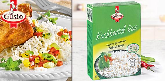 Kochbeutel Reis, 4x 125 g, Juni 2012