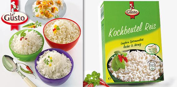 Kochbeutel Reis, 4x 125 g, September 2012