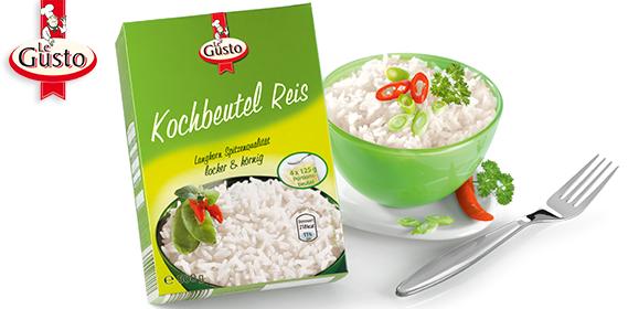 Kochbeutel Reis, 4x 125 g, Januar 2013