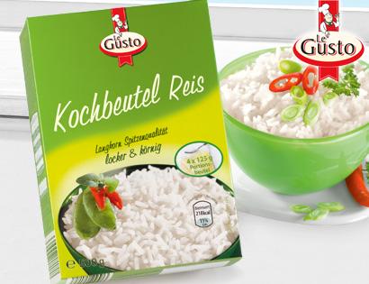 Kochbeutel Reis, 4x 125 g, August 2013