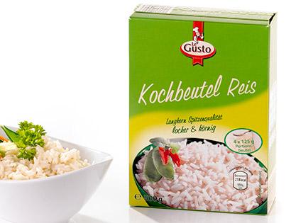 Kochbeutel Reis, 4x 125 g, Dezember 2013