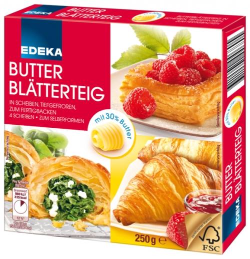 Butter-Blätterteig, Januar 2018