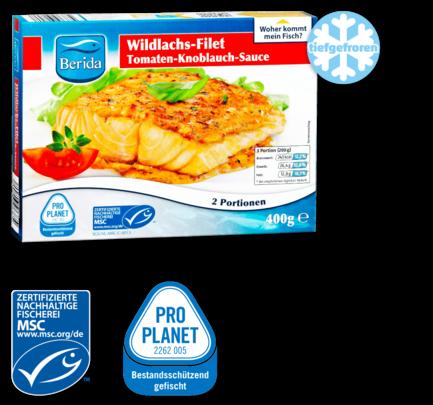 Wildlachs-Filet mit Sauce, Oktober 2016