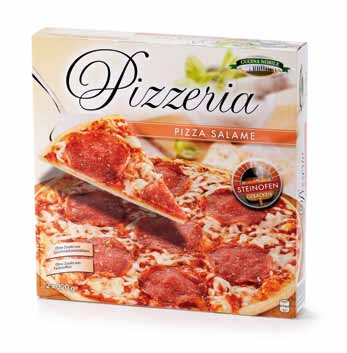 Pizzeria 2 Stück, Salame , April 2013
