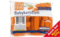 Frische Babykarotten, Juni 2012
