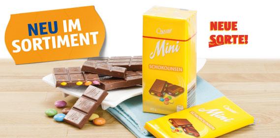 Mini-Schokolade, Juni 2012