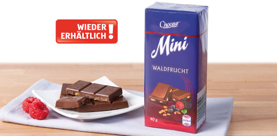 Mini-Schokolade, Juni 2013