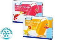 Joghurt-Stieleis mit Orangen-Nektarinen-Fruchtüberzug, Juli 2012