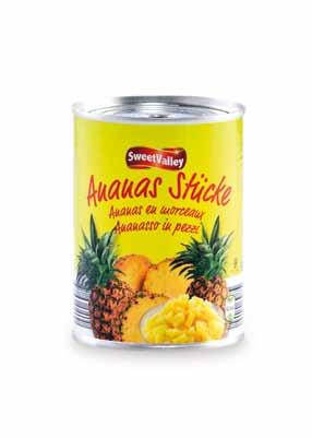 Ananas Stücke, Dezember 2012