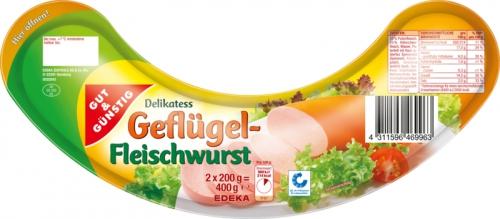 Geflügel Fleischwurst, Dezember 2017