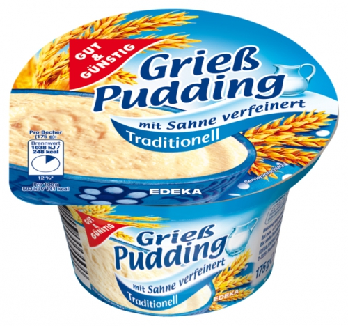 Grießpudding, traditionell, Januar 2018