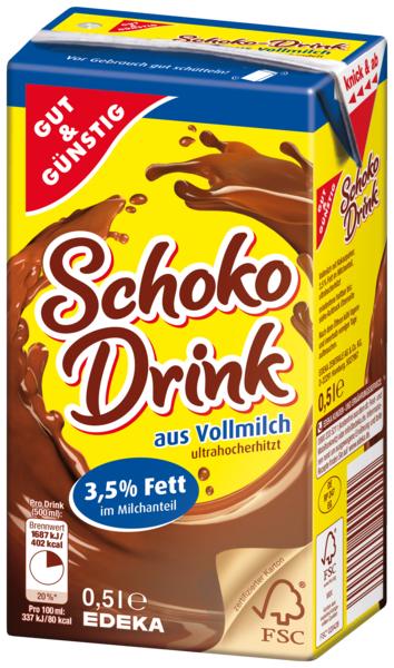Schoko Drink 3,5 % Fett, Januar 2018
