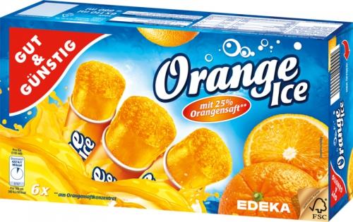 Orange Eis, Januar 2018