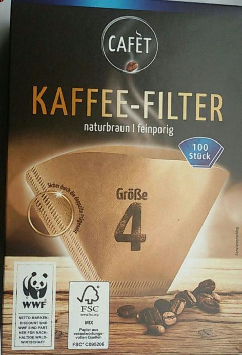 Kaffee-Filter Größe 4, Juni 2017