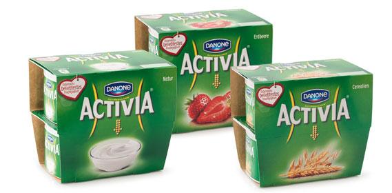 Activia Joghurt, 4x 120 g, Oktober 2013