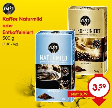 Kaffee Entkoffeiniert, Mai 2018