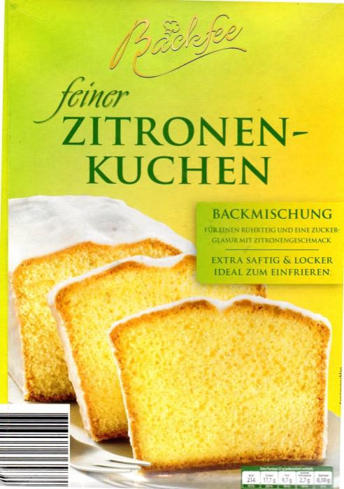 Backmischung Zitronenkuchen, September 2012
