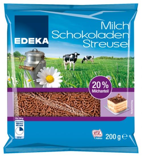 Milch-Schokoladenstreusel Vollmilch, Januar 2018