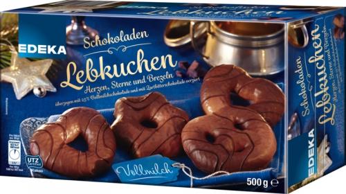 Schokoladenlebkuchen Vollmilch Herzen, Sterne & Brezeln, Januar 2018