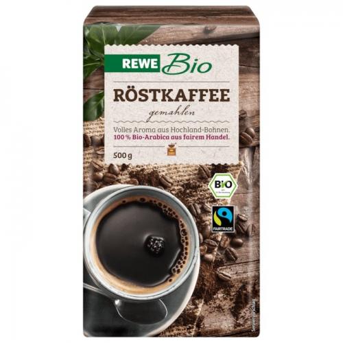 Röstkaffee, gemahlen (Fairtrade), M�rz 2018