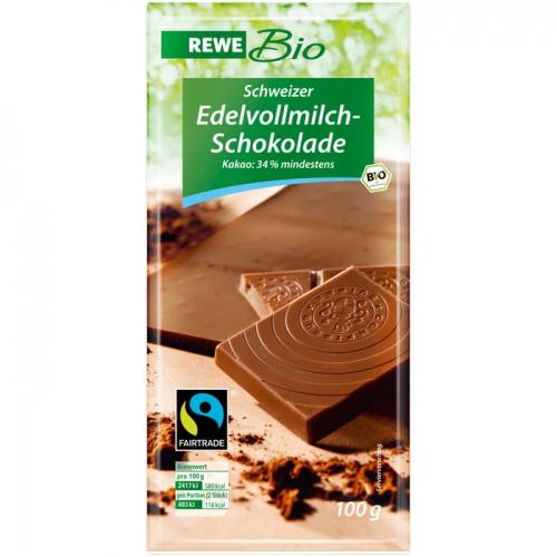 Edelvollmilch-Schokolade, Dezember 2017