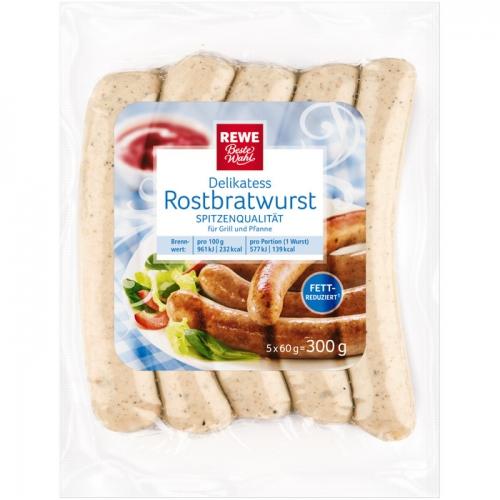 Delikatess-Rostbratwurst, fettreduziert, M�rz 2017