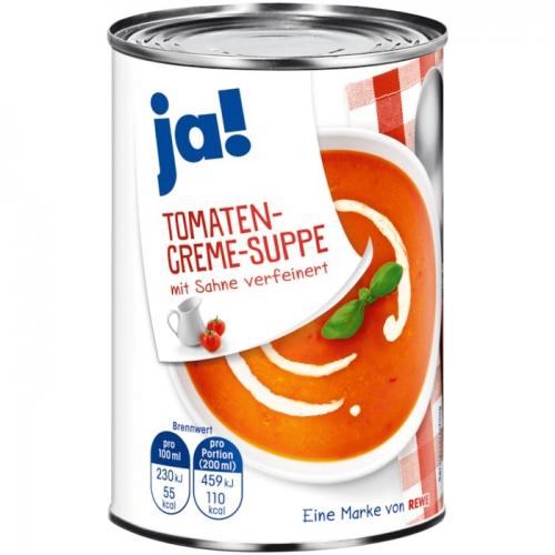 Tomatencreme-Suppe, Januar 2018