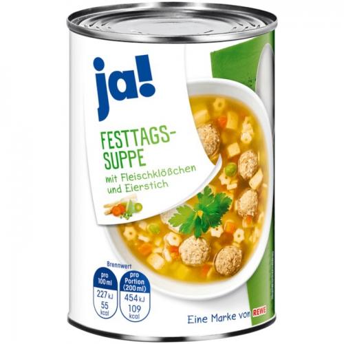 Festtags-Suppe, Januar 2018