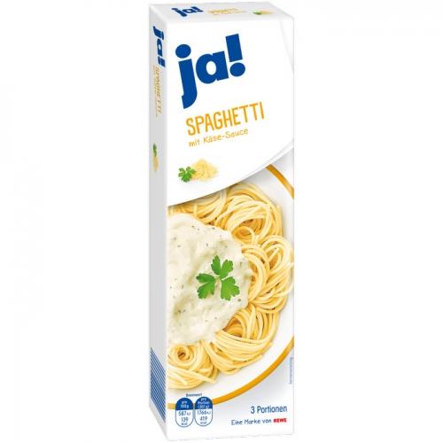 Spaghetti mit Käse-Sauce, Februar 2017