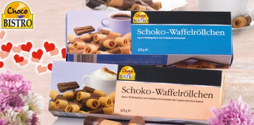Schoko-Waffelröllchen, April 2008