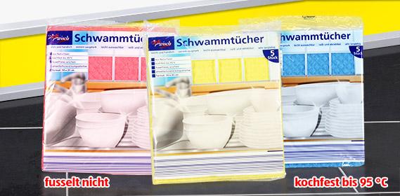 Schwammtücher, versch. Farben, Oktober 2010