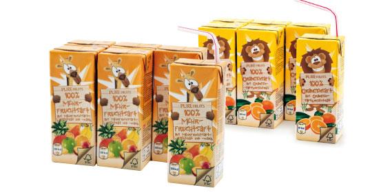 Fruchtsaft 100%, 6 x 0,2 l, Januar 2014