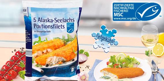 5 Alaska-Seelachs Portionsfilets, Mai 2012