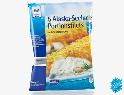 5 Alaska-Seelachs Portionsfilets, April 2014