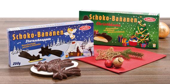 Weihnachtl. Schaumfiguren (Schokobananen), Oktober 2012